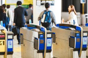 通勤、電車の改札